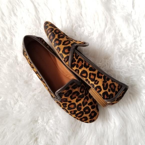 fdd512e1511f Banana Republic Shoes - Banana Republic Leopard Print Smoking Loafer SZ 6
